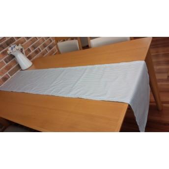 テーブルランナー 水色ストライプ センタークロス テーブルクロス ランチョンマット