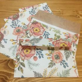 花柄封筒セット