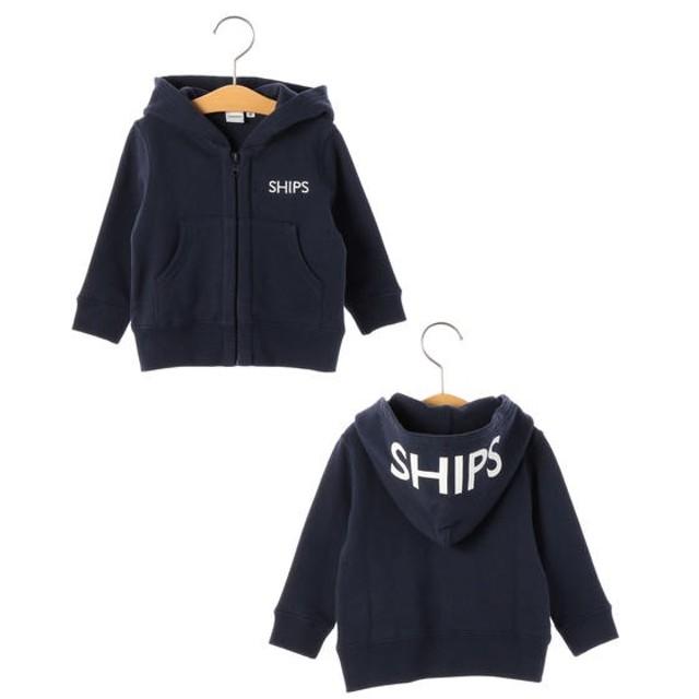 [マルイ] SHIPS KIDS:ロゴ フード ジップ パーカー(80-90cm)/シップス キッズ(SHIPS KIDS)