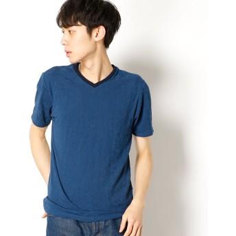 [マルイ]【セール】リーフジャガード 半袖VネックTシャツ/メンズビギ(MEN'S BIGI)