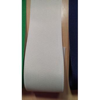 グログランリボン 01 cream 白色
