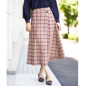 [マルイ]【セール】モール3Dチェック巻風スカート[WEB限定サイズ]/アー・ヴェ・ヴェ(a.v.v)