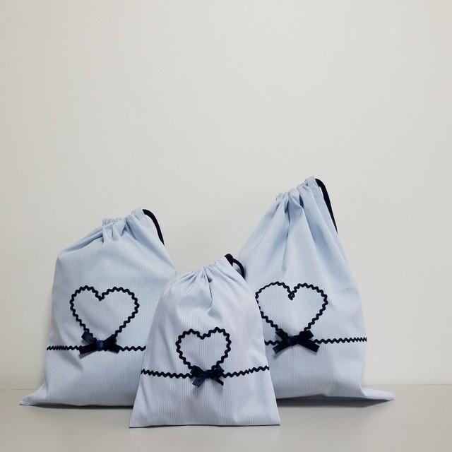 巾着袋 3点set ~幼稚園、保育園、小学校~