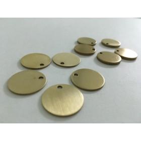 BR01 ハンドメイドチャーム/ピアス イヤリング真鍮brass 円周18mm 厚み1mm/2個