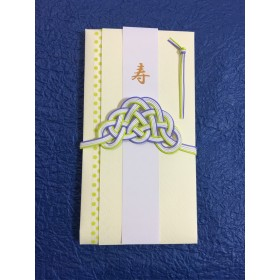 紫と黄緑の優しい ご祝儀袋