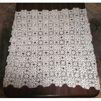 奇跡の手編みレース テーブルクロス