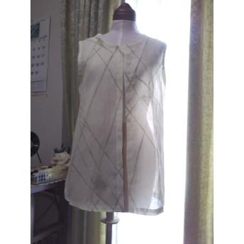 小千谷ちぢみのベスト 着物リメイク