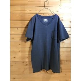 【NEW】サックスワッフル VネックTシャツ / YS FACTORY