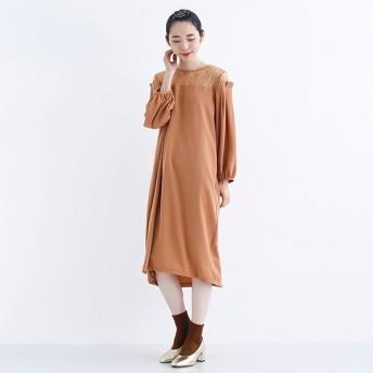 [マルイ] 【plus】デコルテレースタックショルダーワンピースドレス/メルロープラス(merlotPLUS)