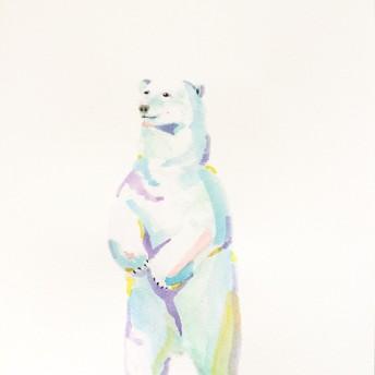 動物イラストポスター「シロクマ」