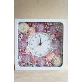 (再販×23)母の日のギフトに♪ウェディングのお祝いに♪カーネーションとローズの花時計