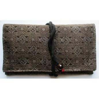 送料無料 綿の着物で作った和風財布・ポーチ 3868