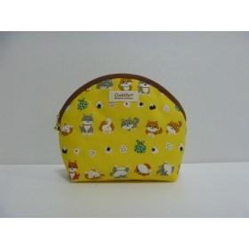 397.柴犬&おむすび柄のポーチ 黄色 再販