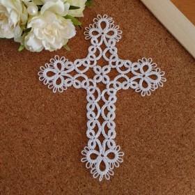タティングレース クロス(十字架)モチーフ