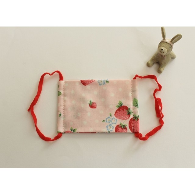 【New・限定1】2枚セット キッズサイズマスク いちご柄 ピンク