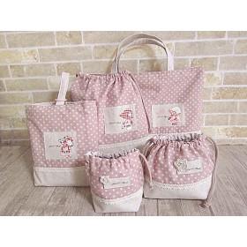 スーさんのパッチワークセット ☆入園入学 レッスンバッグ 5点セット 巾着セット☆
