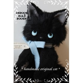 黒猫ちゃん(3色ポンチアイ)№751