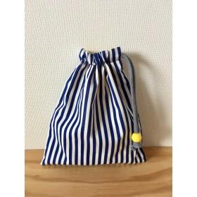 きんちゃく(小) ストライプ コップ袋