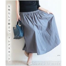 [マルイ] ウエストギャザーフリルが可愛いコットンフレアスカート/サワアラモード(sawa a la mode)