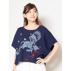 [マルイ]【セール】【チャイハネ】イーグル刺繍Tシャツ/チャイハネ(CAYHANE)