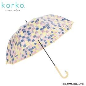 [マルイ] 雨傘【korko(コルコ)】(手開き/ビニール傘/軽量/グラスファイバー骨/シリコンの滑り止め付)/korko(コルコ)