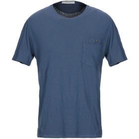 《期間限定セール開催中!》WOOL & CO メンズ T シャツ ダークブルー S コットン 70% / 麻 30%