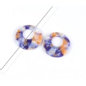 「4個セット 夢幻のシャボン玉」べっ甲風パーツ スティック 27.5mm