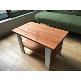 ミニテーブル★オレンジ 橙白★ソファテーブル/ナチュラルインテリア