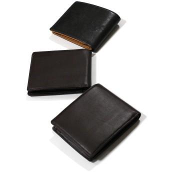 牛本革二つ折り財布
