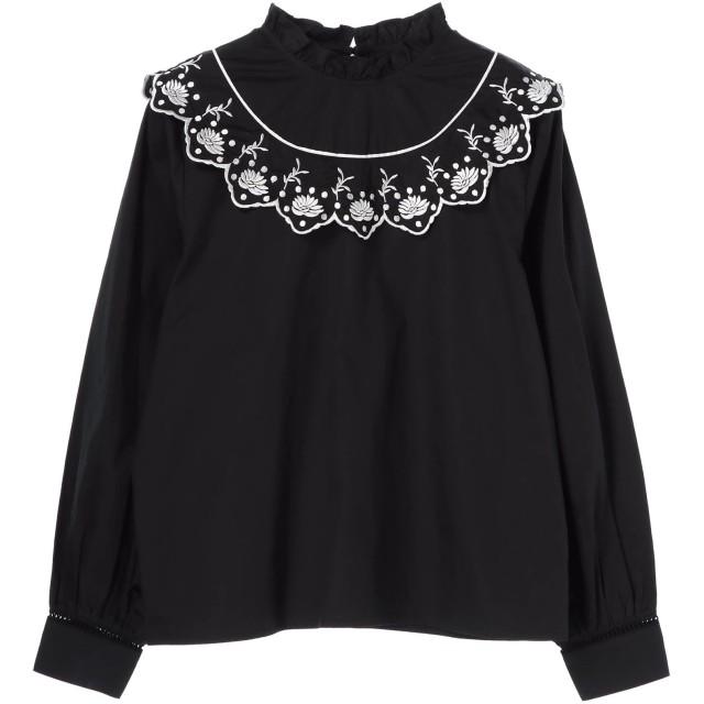 【6,000円(税込)以上のお買物で全国送料無料。】【CAROLINA GLASER】刺繍衿ブラウス