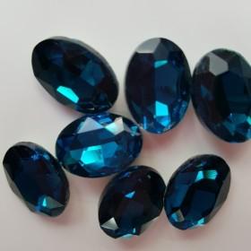 78a30100190663 アクリル製 べっ甲風パーツ 青 ブルー 楕円B 1ペア(2個) ピアス ...