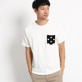 [マルイ] 【WEB限定】ボーダー スター 異素材ポケットTシャツ/ベース ステーション(メンズ)(BASE STATION Mens)