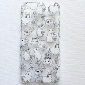 【iPhone】うさぎ透明スマホケース