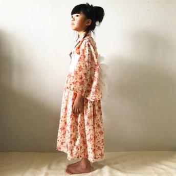 浴衣ワンピース(夕焼けflower)