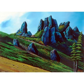 ブルー奇岩の山