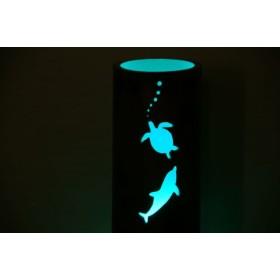 「海がめとイルカ」のランプシェード