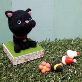 4種類帽子付き黒猫マスコット