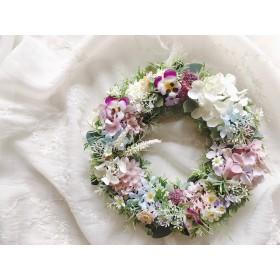 Flower March2 春の草花リース