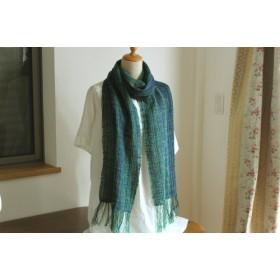 306 綿・和紙の糸ストール(手織り)