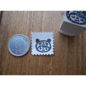 1円サイズ★小さいからどこにでもペタリ・パンダかぶりさん