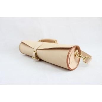 JAPAN LANSUI DESIGN 名入れ対応 ヌメ革手作り手縫い フルートのケース