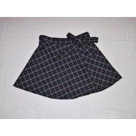 ☆値下げしました☆紺チェックの円形フレア巻きスカート