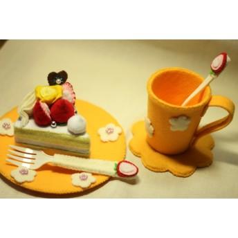 フェルトのケーキとおままごとセット3S_117