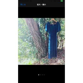 【藍染】【再販売】大人気 ヘンプコットン ロング マキシ ワンピース 麻 リネン