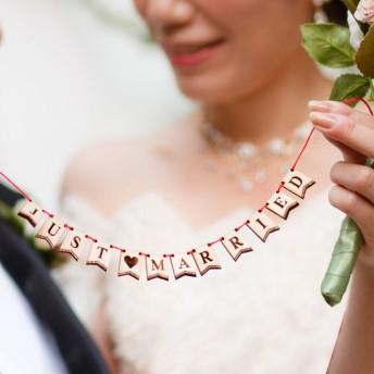 ミニミニ木製ガーランド HAPPY WEDDING フォトプロップス インテリア