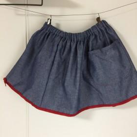 ダンガリー のギャザースカート