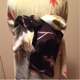 12月末削除 兵児帯 着物リメイク(正絹×正絹)