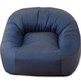 送料無料 一人掛けソファ 省スペースサイズ ネイビー 座椅子 マフィー 日本製 シンプル ワンルーム フロアライフ フロアソファ 北欧 【10%OFFクーポン利用可能】【コード:L5Y874X】