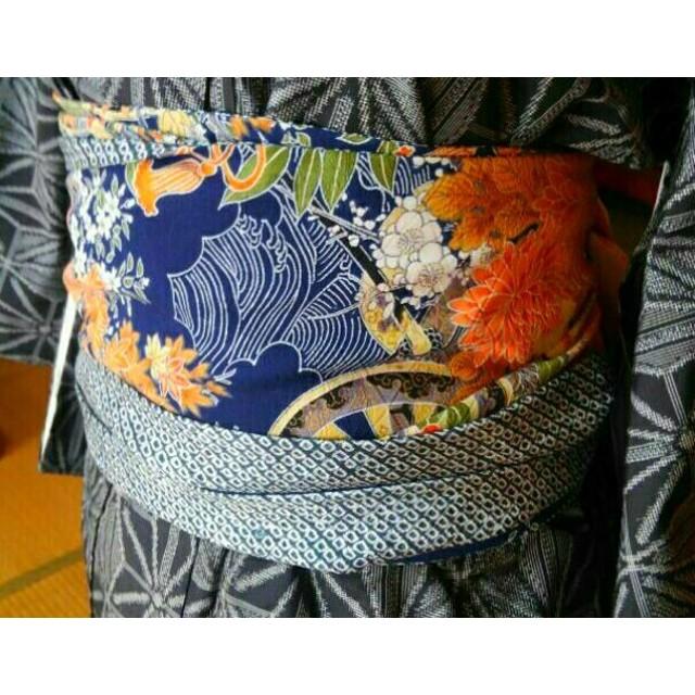 0d7a4e2280875f 着物リメイク柔らかファブリック帯、菊と牡丹値下げします。送料無料 ...