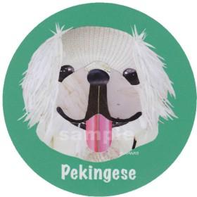ペキニーズ/白1《犬種名ステッカー/小型犬》
